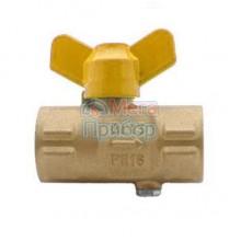11б27пм.01 Кран шаровый для манометра с ручкой на газ М20х1,5-G1/2