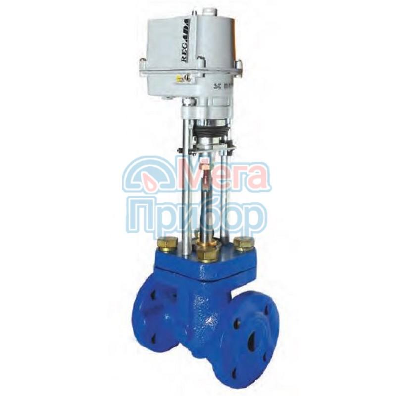 Клапан запорно-регулирующий односедельный с электроприводом